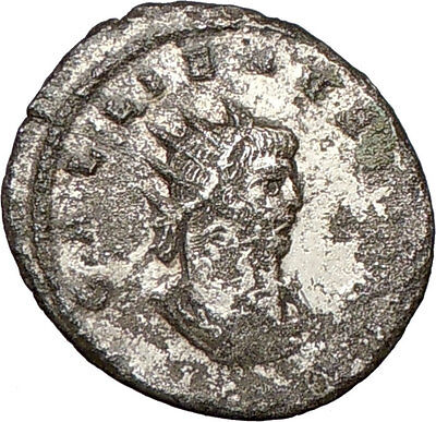 GALLIENUS son of Valerian I Rare Silvered  Ancient Roman Coin SOL Cult  i24493