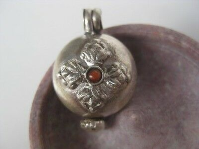 Sterling Silver Gau Locket ~ Vajra, Kalachakra Time Wheel