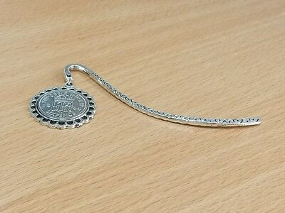 1939 78th Birthday Anniversary Sixpence Coin Bookmark with Shiny Sixpence Fine