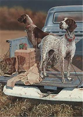 """Opening Day Pointers By Scot Storm Hunting Dog Print Signed  10"""" x 14"""""""