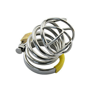 New Stainless steel Male Chastity device HOT FUN A014