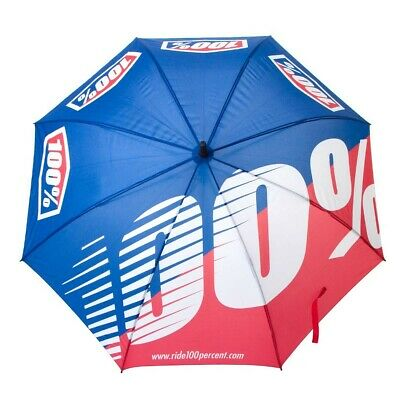 2017 100% LOGO MOTOCROSS UMBRELLA WHITE RED BLUE 100 PERCENT golf pit racing NEW