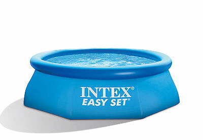 """Intex 8' x 30"""" Easy Set Inflatable Above Ground Family Summer Swimming Pool"""
