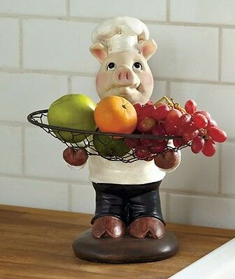 Piggy chef tray table culinary restaurant decor pizza Pig kitchen decor