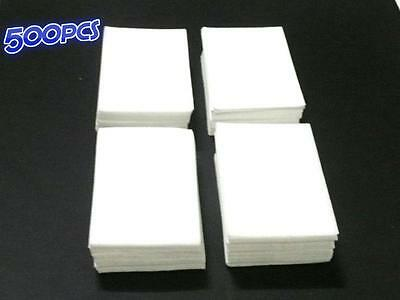 500 Pack Lint Free Nail Wipes Cotton Pads Acrylic Tips  Nail Art Polish Remover