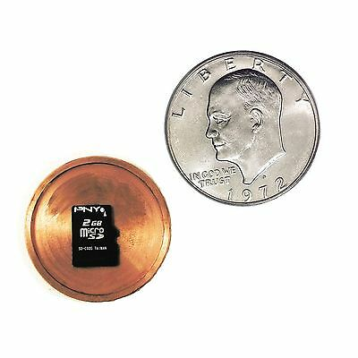 Hollow Spy Coin MicroSD Card Covert One Dollar Coin Concealed Hidden Compartment