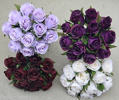 1 x SILK WEDDING BOUQUET ROSE BUD PRE MADE POSY WEDDINGS FLOWER ROSE BUD FLOWERS