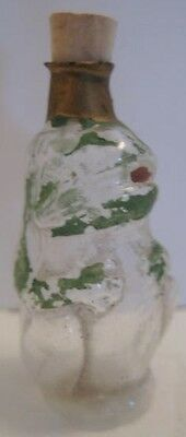 Old Rare 1920s German Glass Figural Perfume Bottle - Crouching Frog