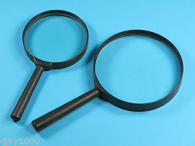 2 x Jumbo Magnifying Glass Large Magnification Glass Len Glasses Optical Detail