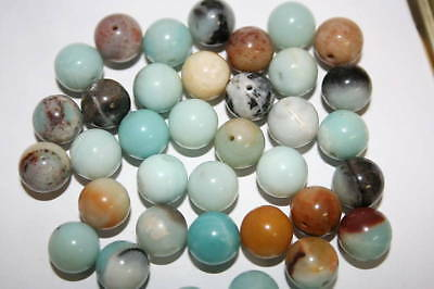 4 Pietre Amazonite Color Mix Cabochon  Diametro 1Omm.