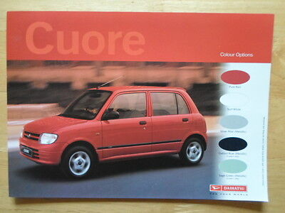 DAIHATSU Cuore orig 2001 UK Market Colours Features & Specifications brochure