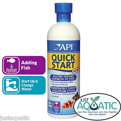 NEW API QUICK START 473mL Fish Aquarium Ammonia Treatment Nitrifying Bacteria