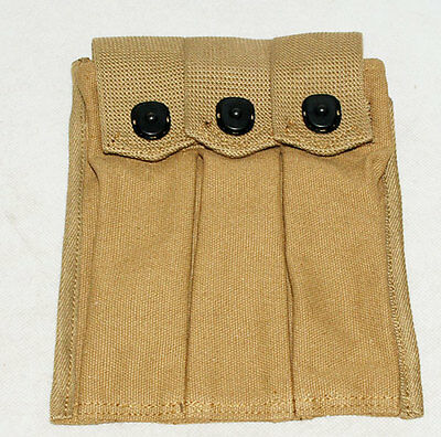 Wwii Us Amry Thompson Magazine Pouch 3 Cell 30 Rounds-31346