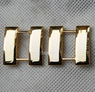 Ww2 Pair U.s. Us Army Officer's Captain Rank Insignia Badges Gold -32409