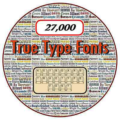 True Type Fonts on CD - 27,00 - Scrapbooking, Flyers, Calenders, Invitations