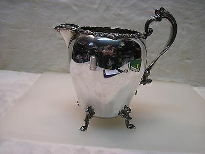 Vintage Sheridan Silver On Copper Water Pitcher A214