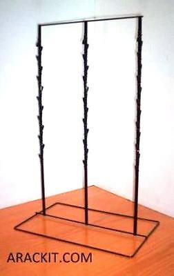 """For Sale Counter Chip and Snack Display Rack - 3 Strip 39 Clip 6"""" Apart  (Black)"""