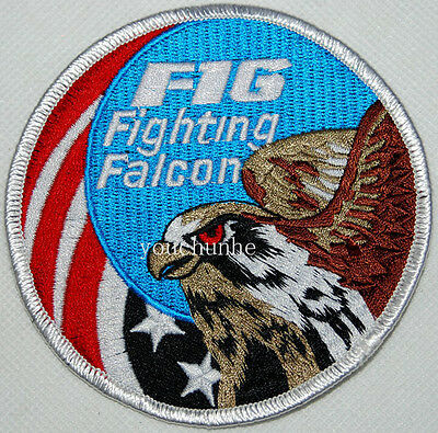 Us United States Usaf F-16 Fighting Falcon Swirl Embroidered Patch -32272