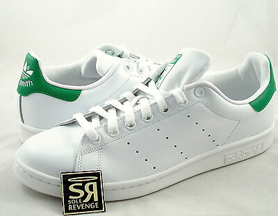 New adidas Originals Men Stan Smith Shoes Running White Fairway M20324 Green
