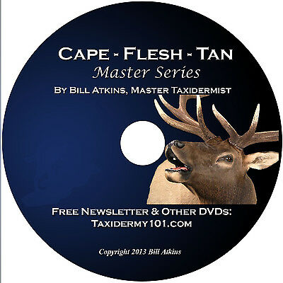 Learn Caping, Fleshing Tanning for Taxidermy on DVD- for Beginners