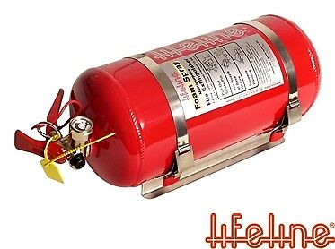 Lifeline FIA Zero2000 4L Electric + 2.4L Hand Held Fire Extinguisher Plumed In