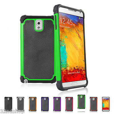 SHOCK PROOF CASE COVER & SCREEN PROTECTOR FOR Samsung Galaxy Note 3 N9000 N9005