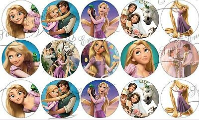 35 Rapunzel Tangled Princess Disney PRE-CUT Edible Rice/Wafer Paper Cake topper