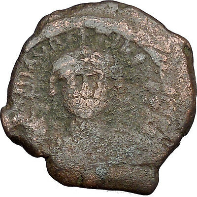 JUSTINIAN I 527AD Half Follis Constantinople Medieval Byzantine Coin  i38943