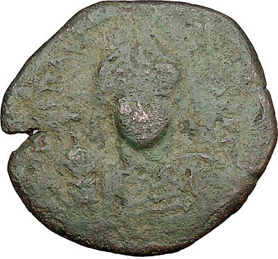 JUSTINIAN I 527AD Half Follis Constantinople Medieval Byzantine Coin  i38944