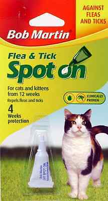 Bob Martin, Spot On, Flea & Tick Control For Cats And Dogs, 4 Week Protection.