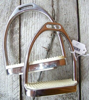 """Stirrup Irons - Stainless Steel - 4.25"""" (With Extra Pads)"""