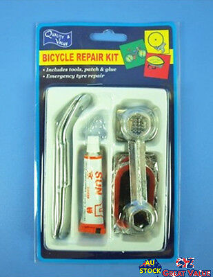 Bicycle Tire Puncture Repair Kit Small Great to Travel With Patches & Glue 01516