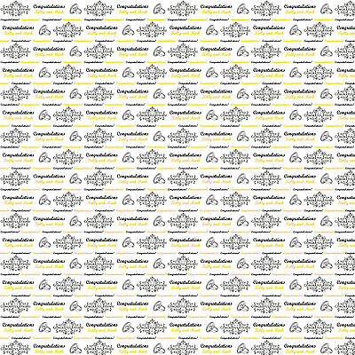 Personalised Gift Wrapping Paper ENGAGEMENT Wedding Rings
