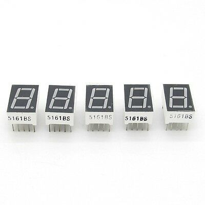 "5 pcs Red 7 Segment 0.5"" LED Display Digital Tube Common Anode 1 Bit"