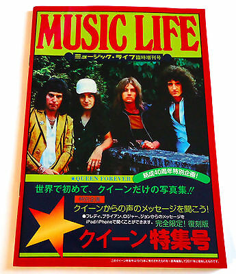 QUEEN MUSIC LIFE MAGAZINE SPECIAL ISSUE 2011 JAPAN Freddie Mercury Brian May