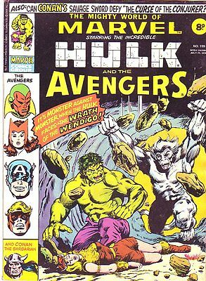 The Mighty World of Marvel_#199_Bronze Age Comic_UK Variant_Hulk_1976_FN 6.0