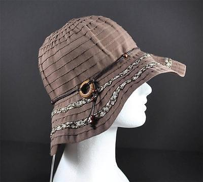 1a9781a3f2d Jeanne Simmons Brown Bead String Trim Hat 3
