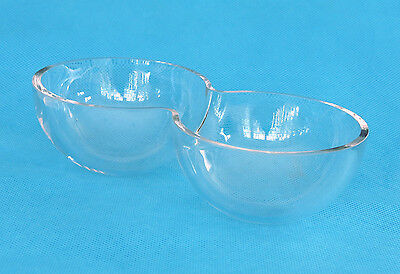 2 (Two) Small, Clear, Thick Glass Bowls Great For Salad, Dressing & Dessert *