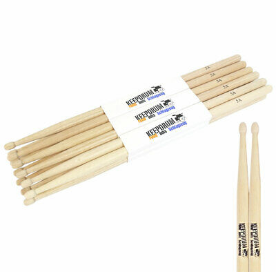 KEEPDRUM 5A Hickory Drumsticks Wood 6 Paar