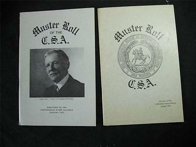 The Confederate Philatelist Journal Muster Roll Directory Usa 1972 & 1974
