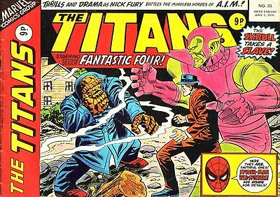 The Titans #33_Fantastic Four_Marvel Comic_Variant_1976_Bronze Age_VG/FN 5.0