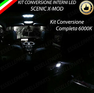 Kit Led Interni Scenic Xmod Plafoniera Ant+Post+Luci Di Cortesia+Bagagliaio