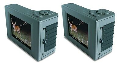 "(2) MOULTRIE Hand Held Game Camera Digital Picture Viewers w/ 2.8"" LCD 