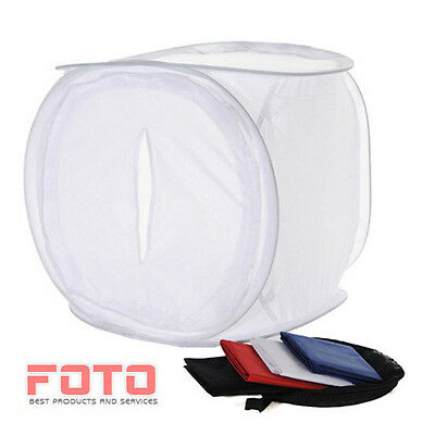 "80cm Photo Studio Softbox Light Tent Cube 20"" Soft Box+ 4 Colour Backdrop UK"