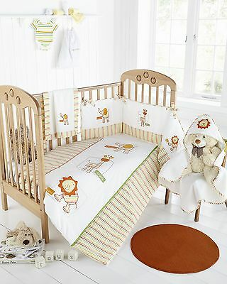 Little Zoo Baby Bedding,Lovely Embroidered Design,Unisex,Great Value!! WOW!!