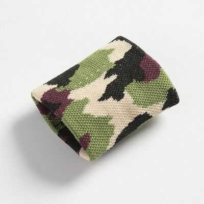 Boys/Mens Camouflage Army Wristband Sweatband - Brand New