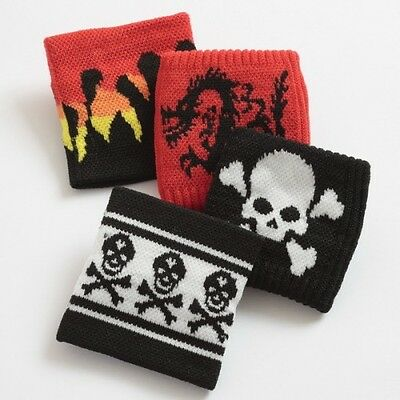 Girls Boys Sweatband Wristband Skull Flames Dragon Various Deisgns - Brand New