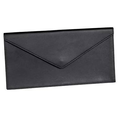 Royce Leather Legal Document Envelope, Top Grain Nappa Leather, Black