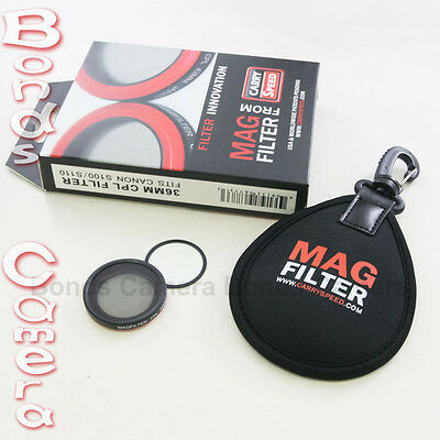 MagFilter 36mm CPL Circular Polarizer Filter for Canon PowerShot S95 S100 S110
