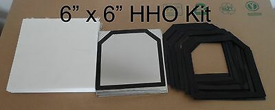 9 pcs 6x6 316L SS HHO Kit w/10 Silicone Gaskets plus Cover set.